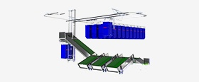 Overhead Bag Conveyor System